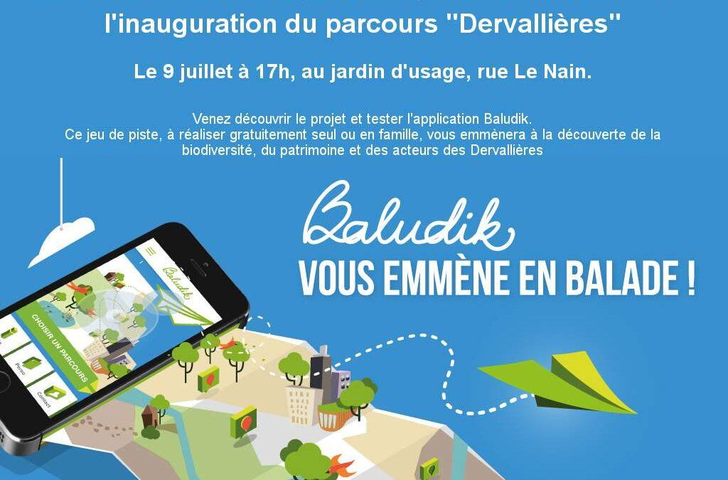 Inauguration du parcours Baludik aux Dervallières