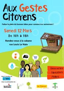 Affiche A5Aux gestes citoyens