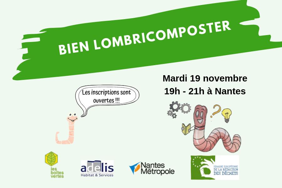 """""""Bien lombricomposter"""" pour la SERD le 19 novembre à Nantes"""